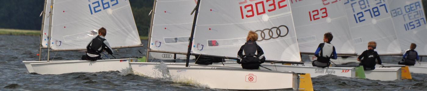 Opti segeln Regattasegeln auf der Ostsee