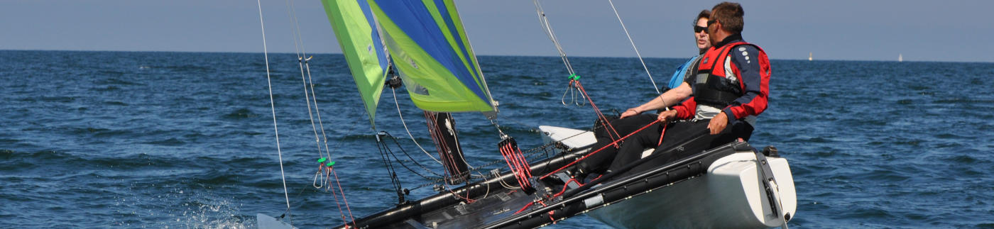 Cat-Kurs Katamaran segeln Ostsee