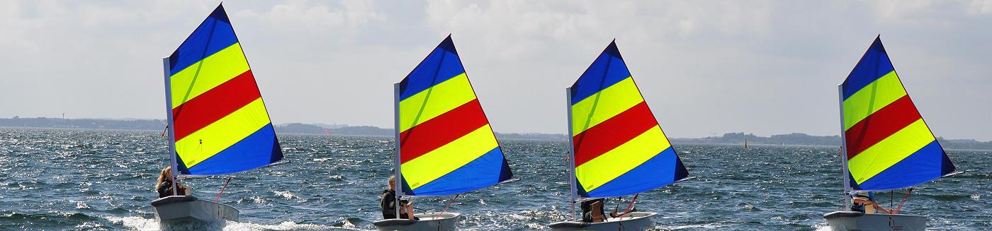 Opti segeln Eckernförde Ostsee